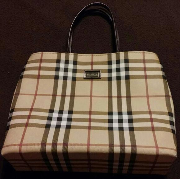 Burberry Handbags - Vintage Brown Classic Nova Check Mini Tote Bag f3cc7a48a7524